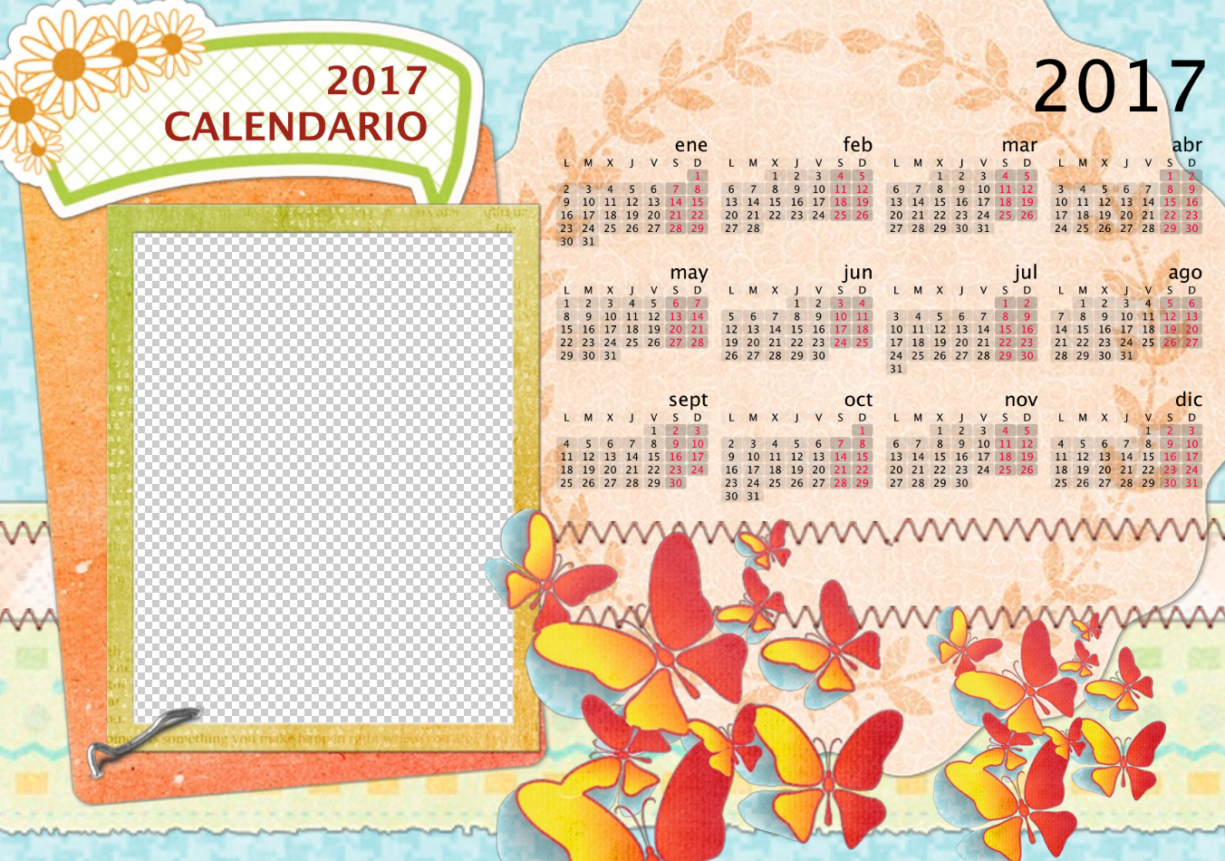 Plantillas Calendario Adobe Photoshop Archivos - Zeni Acosta ...